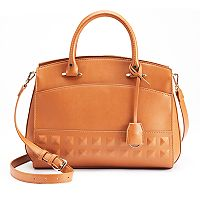 Jennifer Lopez Heather Embossed Satchel