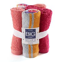 The Big One® Brights 6-pack Solid & Stripe Washcloths