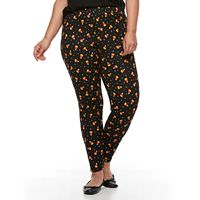 Plus Size French Laundry Candy Corn Print Legging