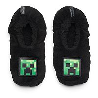 Boys 4-20 Minecraft Creeper Slippers