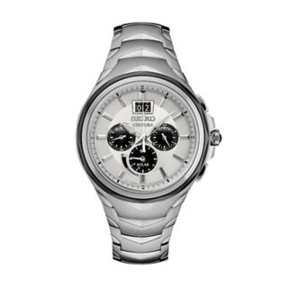 Seiko Men's Coutura Stainless Steel Solar Chronograph Watch - SSC627