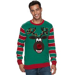 Big & Tall Method Reindeer Ugly Christmas Sweater