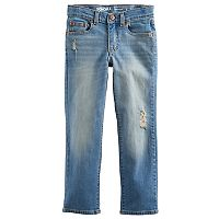 Boys 4-7x SONOMA Goods for Life™ Deconstructed Light Wash Straight Jeans