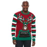 Big & Tall Reindeer Ugly Christmas Sweater