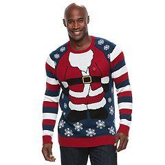 Big & Tall Santa Ugly Christmas Sweater