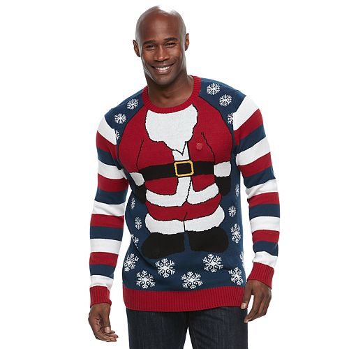 big tall santa ugly christmas sweater