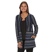Women's Dana Buchman Striped Collarless Jacket