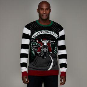 Big & Tall Biker Santa Ugly Christmas Sweater