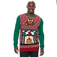 Big & Tall Chimney Ugly Christmas Sweater