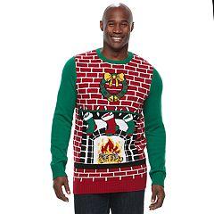 Big & Tall Chimney Ugly Christmas Sweater