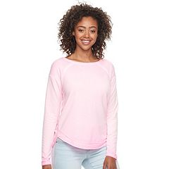 Junior's SO® Drapey Front Shirttail Pullover