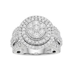10k White Gold 2 ctT.W. Diamond Tiered Ring
