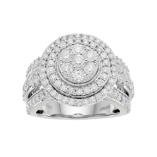 10k White Gold 2 ct. T.W. Diamond Tiered Ring