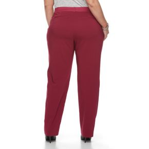 Plus Size Apt. 9® Torie Satin Waist Straight-Leg Pants