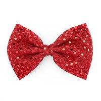 Red Sequin Bow Hair Clip