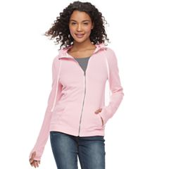 Juniors' SO® Thumb Hole Zip-Up Hoodie