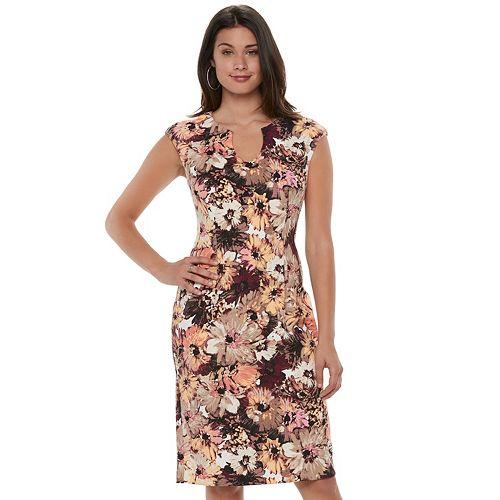 Women's Suite 7 Floral Scuba Sheath Dress