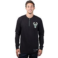 Men's Milwaukee Bucks 1/4-Zip Thermal Tee