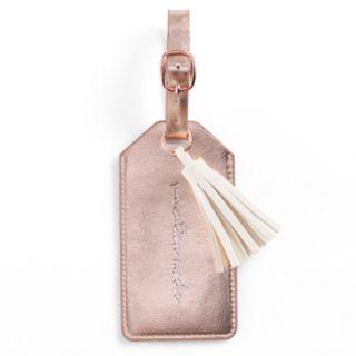 "LC Lauren Conrad ""Vacation Mode"" Tassel Luggage Tag"