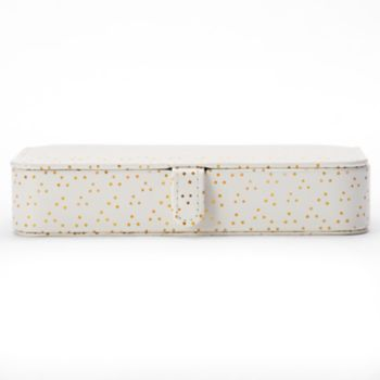 LC Lauren Conrad Dotted Travel Jewelry Box