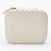 LC Lauren Conrad Dotted Travel Jewelry Case
