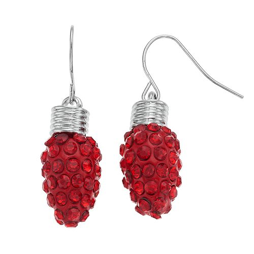 Red String Light Nickel Free Drop Earrings