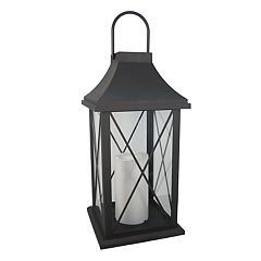 SONOMA Goods for Life™ Large Pre-Lit Solar Powered Lantern Outdoor Table Decor