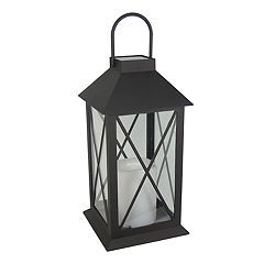 SONOMA Goods for Life™ Small Pre-Lit Solar Powered Lantern Outdoor Table Decor