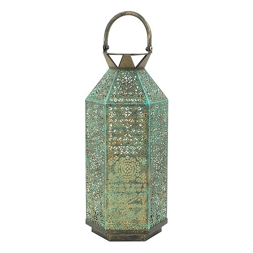 SONOMA Goods for Life™ Large Solar Powered Distressed Lantern Indoor / Outdoor Table Decor