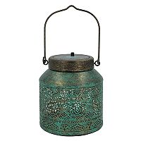SONOMA Goods for Life™ Small Solar Powered Distressed Lantern Indoor / Outdoor Table Decor