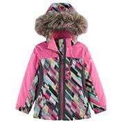 Girls 4-16 Free Country Heavyweight Geo Mosaic Boarder Jacket