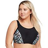 Plus Size Glamorise Full-Figure Elite Performance Adjustable Wonderwire Sports Bra 9167