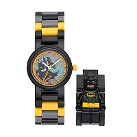 LEGO Kids' The Batman Movie Minifigure Interchangeable Watch Set