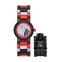 LEGO Kids' Star Wars Darth Vader Minifigure Interchangeable Watch Set