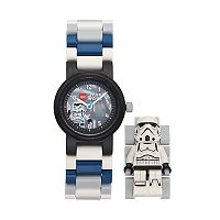 LEGO Kids' Star Wars Stormtrooper Minifigure Interchangeable Watch Set