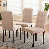 Baxton Studio Andrew II Upholstered Dining Chair 4 pc Set