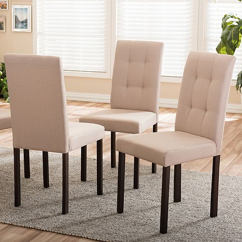Baxton Studio Andrew II Upholstered Dining Chair 4-piece Set