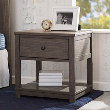 Delta Children Cali Nightstand with Drawer & Shelf