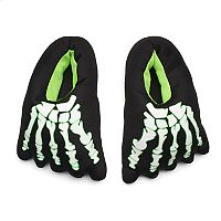 Boys 4-20 Skeleton Glow-In-The-Dark Slippers