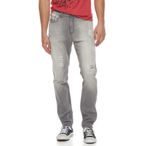 Men's Hollywood Jeans Teddy Distressed Straight-Leg Jeans