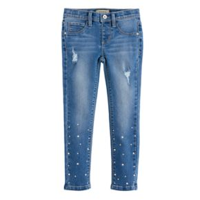 Girls 4-7 Squeeze Painted Bead Skinny Jeggings