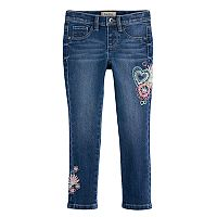 Girls 4-7 Squeeze Floral Embroidered Skinny Jeggings