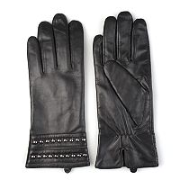 Women's Journee Collection Studded Leather Gloves