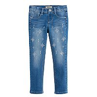 Girls 4-7 Squeeze Embroidered Star Rhinestone Skinny Jeggings