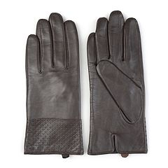 Women's Journee Collection Microfiber-Lined Leather Gloves