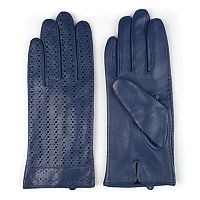 Women's Journee Collection Microfiber-Lined Perforated Leather Gloves
