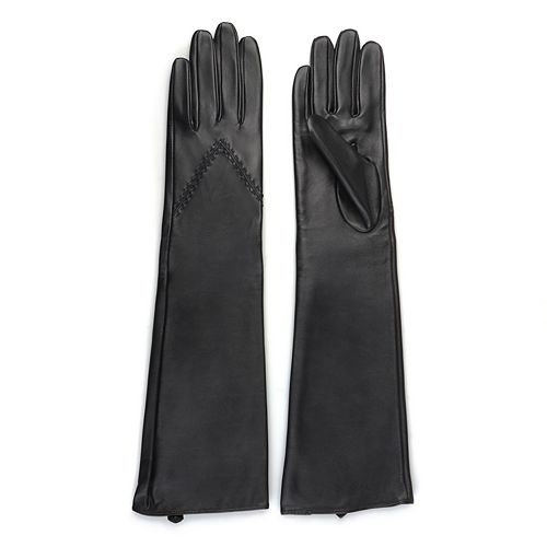 Women's Journee Collection Microfiber-Lined Long Leather Gloves