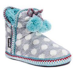 Women's MUK LUKS Amira Knit Polka Dot Boot Slippers