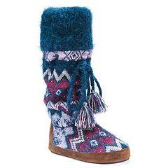 Women's MUK LUKS Angie Fairisle Boot Slippers