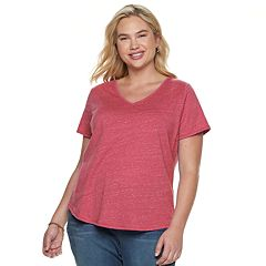 260754d79a Plus Size SONOMA Goods for Life™ Essential V-Neck Tee